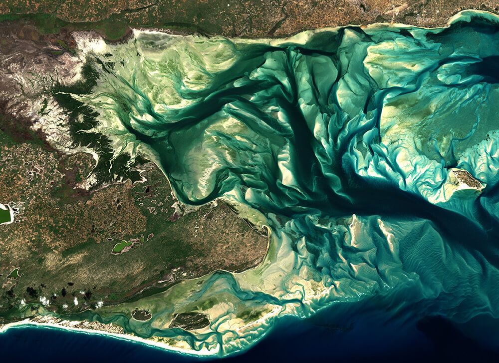 Sentinel-2 image of the Bazaruto Archipelago, Mozambique
